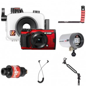 Underwater Housing for Olympus TG-6 Camera Deluxe Kit