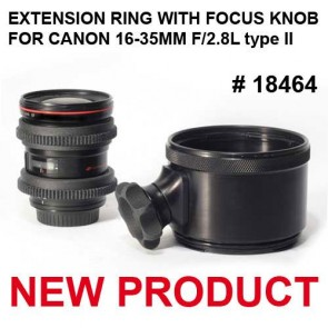 Aquatica Port extension with focus knob for Canon 16-35mm f/2.8L (focus gear included)