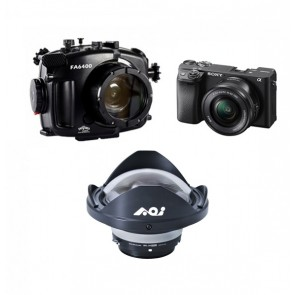 Fantasea Underwater Mirrorless Housing AND Sony A6400 with 16-50mm Lens + Wide Angle