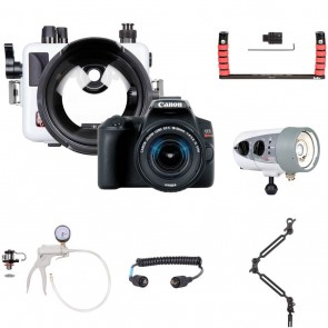 Ikelite 6970.08 Underwater Housing AND Canon EOS 250D / Rebel SL3 Camera w/DS160