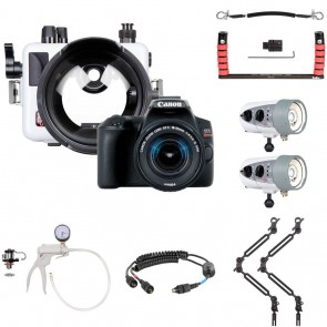Ikelite 6970.08 Underwater Housing AND Canon EOS 250D / Rebel SL3 Camera w/Dual DS160