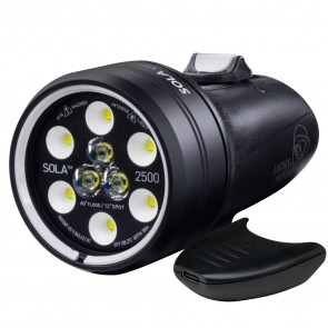 Light and Motion SOLA Video 2500 S/F USB-C (2500 Lumens) Underwater Video Light