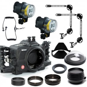 Aquatica Underwater DSLR Package for Canon 5D Mark III (Mark 3) with Canon 100 & Canon 16-35 Lens Ports & Lighting