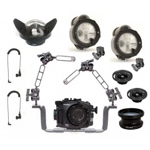 Fantasea FA6500 Underwater Housing for Sony A6500 / A6300 w/Dual Inon Z-240 + Wide and Macro lens
