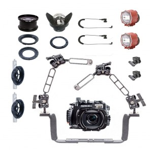 Fantasea FG7XIII Underwater Housing for Canon G7X III w/Dual Inon S-2000
