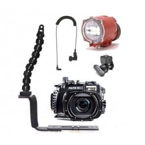 Fantasea  Underwater Housing for Canon G7X III w/Inon S-2000