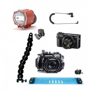 Fantasea FG7XII A Underwater Housing AND Canon G7X II Camera w/Inon S-2000