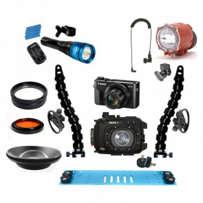 Fantasea FG7XII Underwater Housing AND Canon G7X II Camera w/Inon S-2000 Fantasea Radiant 2500 & Lenses