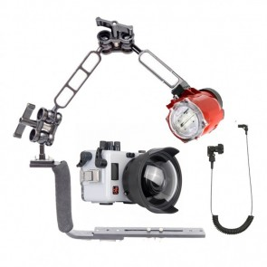 Underwater Housing for Sony A6000 w/Inon S-2000