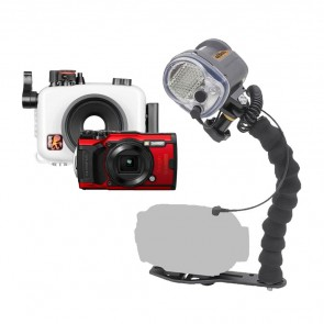 Mozaik 6233.06 Underwater Housing AND Olympus TG-6 Camera w/YS-03 Solis Strobe