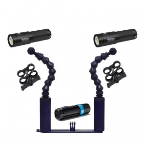 Mozaik  Underwater Housing AND Paralenz Dive Camera+ Camera w/Dual Big Blue Black Molly V