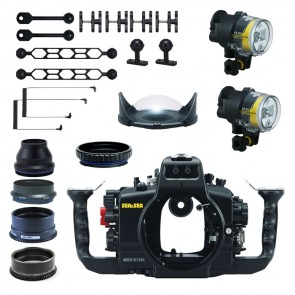 Sea and Sea Underwater DSLR Package for Nikon D7100 with Nikon 105 & Tokina 10-17 Lens Ports & Lighting