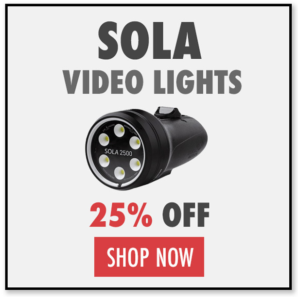 Black Friday Deals on Sola Underwater Video Lights