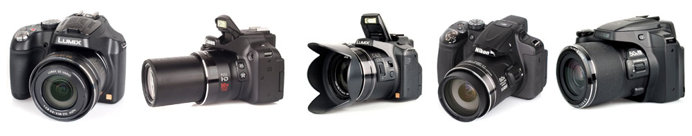Examples of Ultra Zoom cameras which are not compatible for underwater photography
